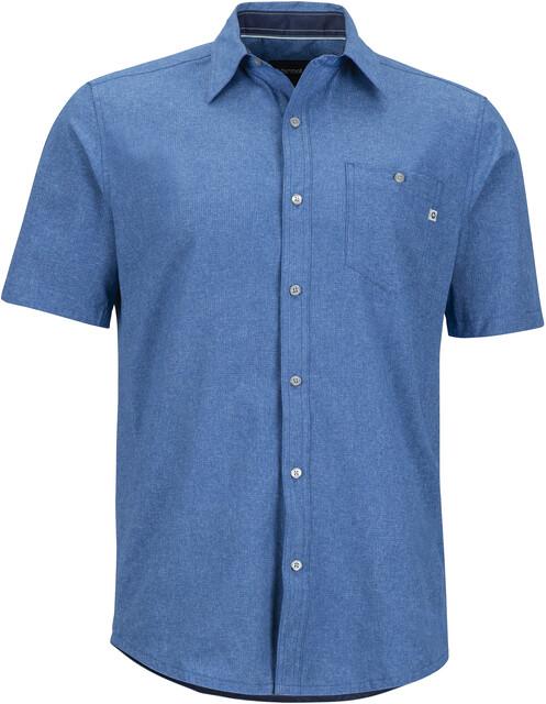 Marmot M's Windshear SS Flannel Shirt Varsity Blå